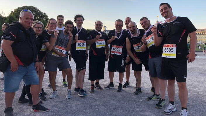 Das INPOSIA team beim B2Run 2019.