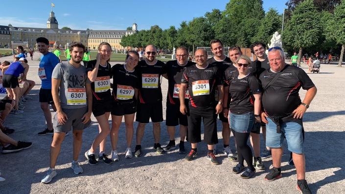Unser INPOSIA Team beim B2Run 2018