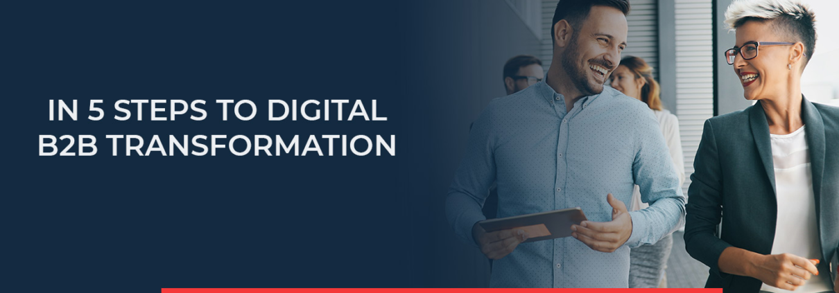 In 5 steps to digital B2B transformation - these steps support you in introducing digital transformation to your business