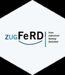 Wir bieten E-Invoicing mit ZUGFeRD an.
