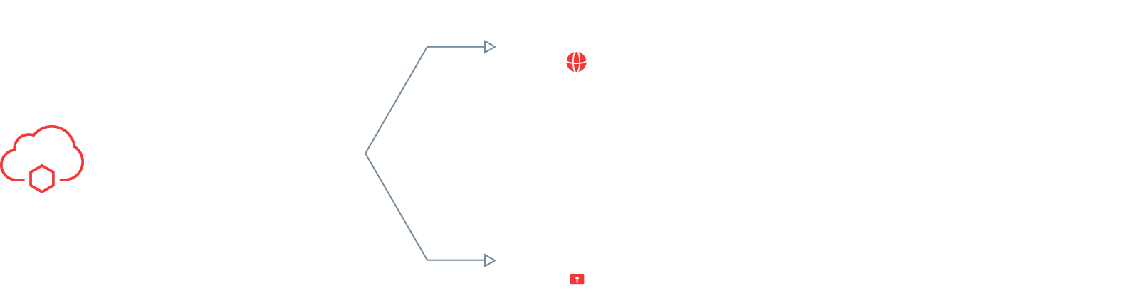 You can decide for yourself whether you want to pave your way to digital transformation in the public or private cloud.