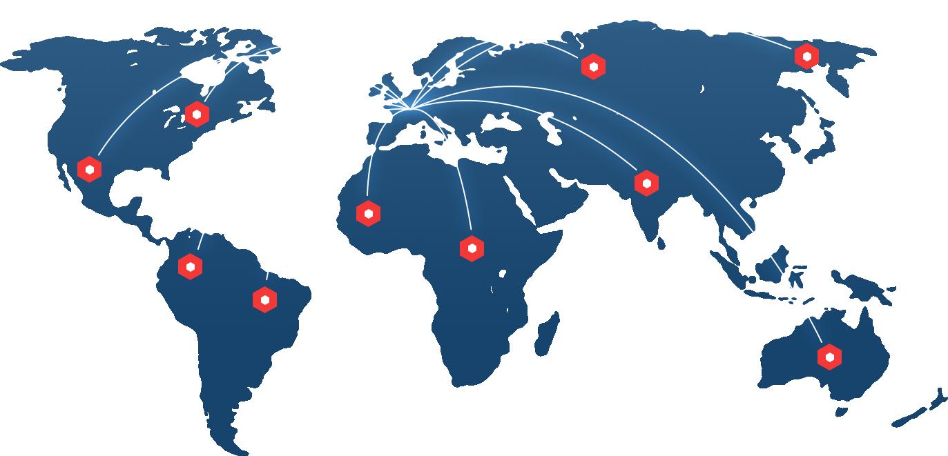 INPOSIA ist weltweit für Sie da. Wir sind da wo unsere Kunden sind.