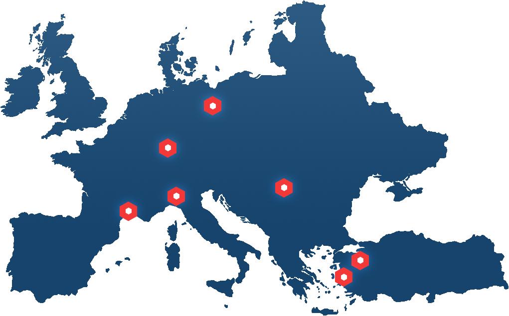 Das sind unsere Standorte von INPOSIA.