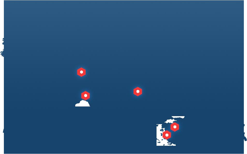 Unser internationaler Support ist aus 4 verschiedenen Ländern für Sie 24/7 zu erreichen.