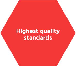 We offer the highest quality standards for our products and solutions. We are ISO certified.