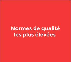 Nous offrons les normes de qualité les plus élevées pour nos produits et solutions. Nous sommes certifiés ISO.