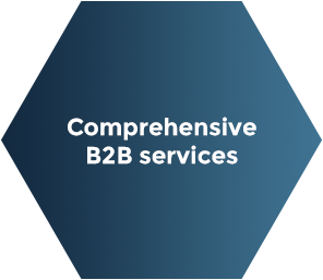 INPOSIA offers comprehensive B2B services, because every customer is individual and so our solutions can also be adapted.